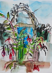 Garden Gate (acrylic and mixed media)