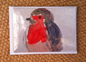 CA018 Pack of 8 Robin cards for £5 (blank inside)
