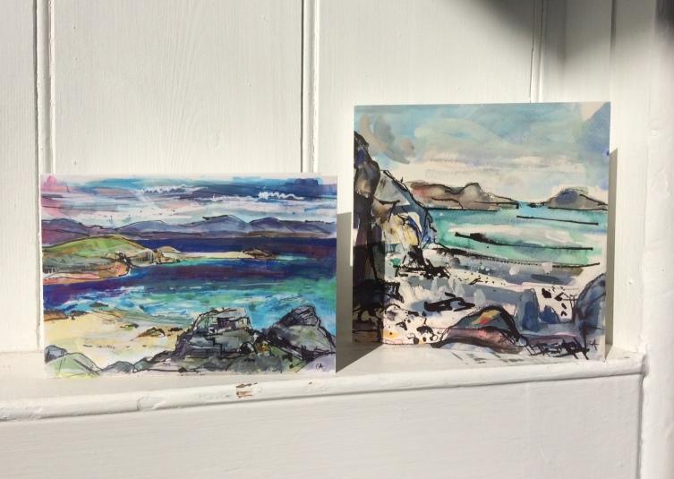 CA036 Eilean Annraidh and CA042 St Columba's Bay cards