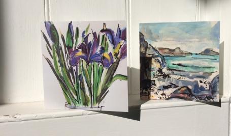 CA011 Iris and CA042 St Columba's Bay cards