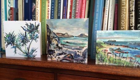 CA046 Sea Holly, CA042 St Columba's and CA037 Calva cards