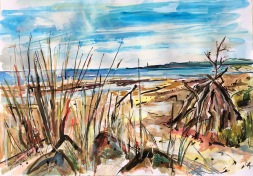 St Cyrus looking South towards Montrose - commission (SOLD)
