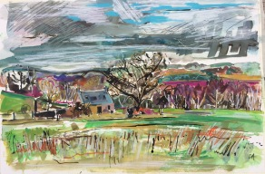 Croft in February landscape