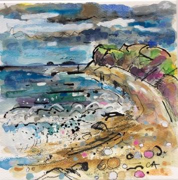 Seacliff Beach, Eastwards