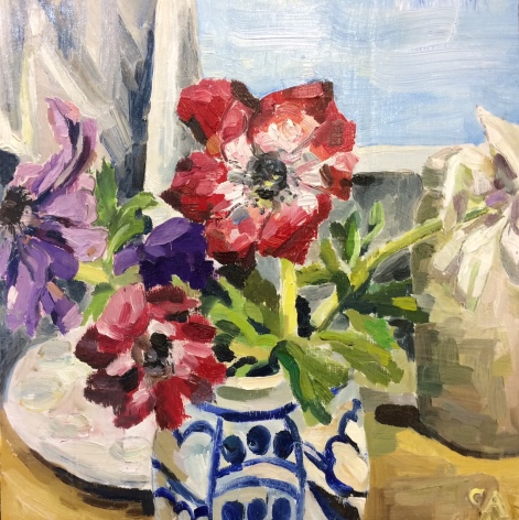 Anemones, oil on board (SOLD)
