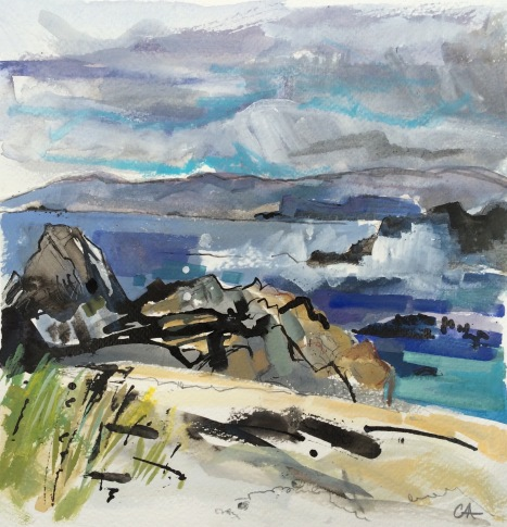 Staffa from the North End, Iona (SOLD)