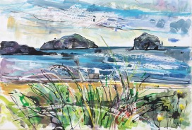 The Lamb, Craigleith Islands and the Bass Rock (SOLD)