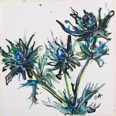 Sea Holly Thistle (SOLD)