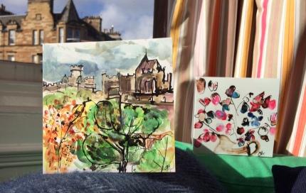 CA054 Edinburgh Skyline and CA045 Sweetpea