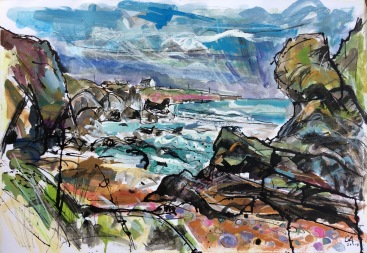 CA057 Clare Arbuthnott, St Cyrus Beach, looking North