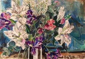 Lilies, blue Still Life