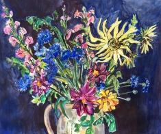Still-life with Cornflowers