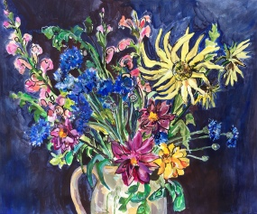 Still-life with Cornflowers