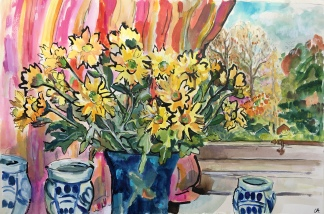 Yellow Chrysanthemums (69x52cm)