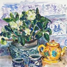 Yellow Tea Pot SOLD (framed 44x45cm)