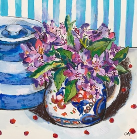 Rhododendrons and Cornish Ware