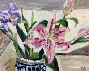 Lily & Iris 33 x 38cm