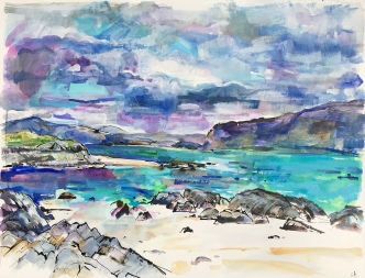 Storm Island from Iona 74 x 94cm